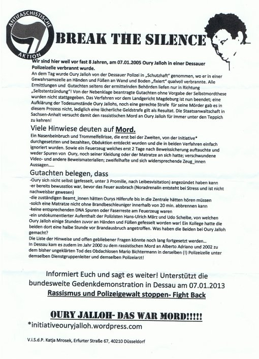 oury_jalloh_spontandemo_dresden_flyer