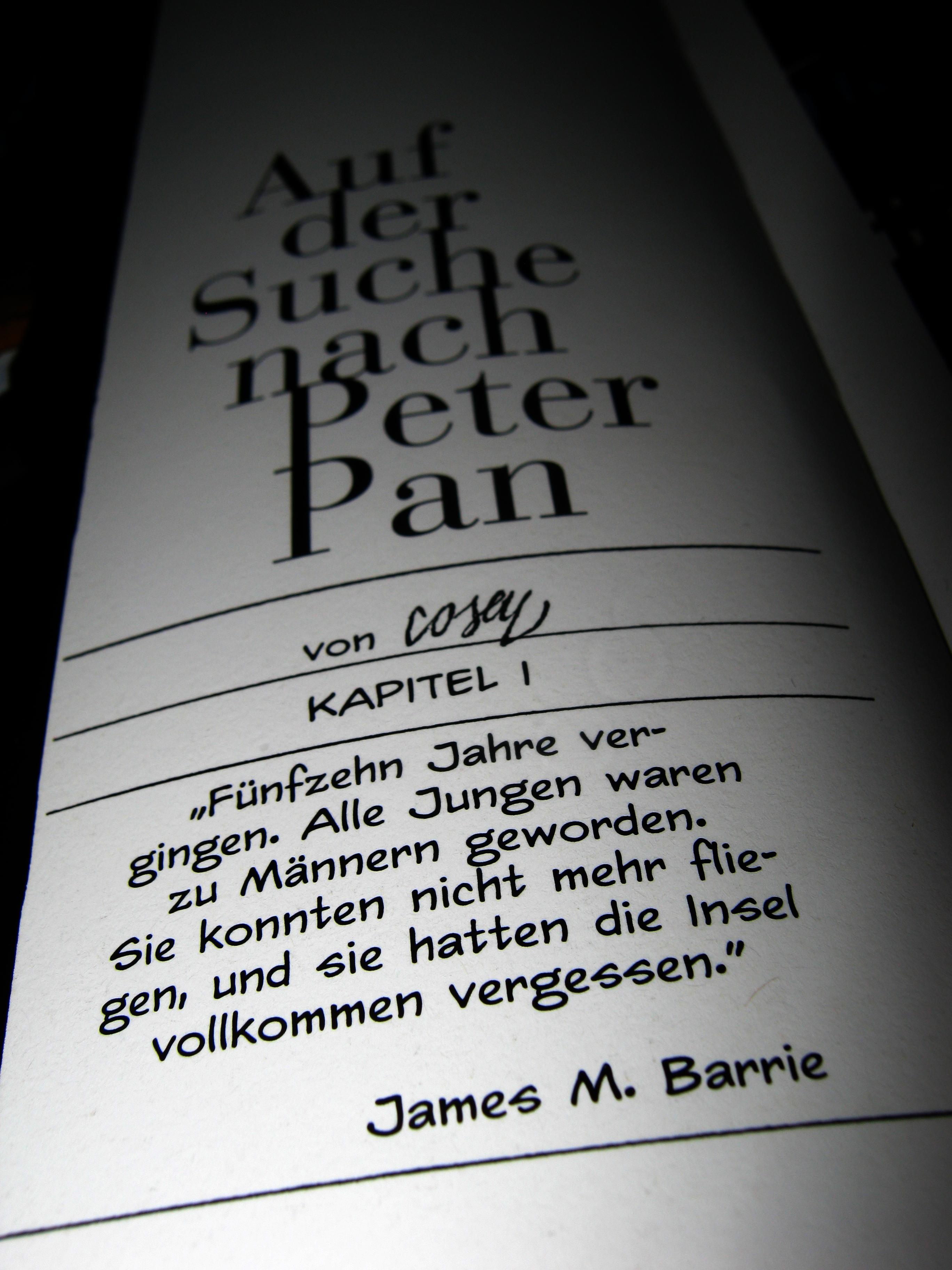 Peter Pan Zitate Deutsch